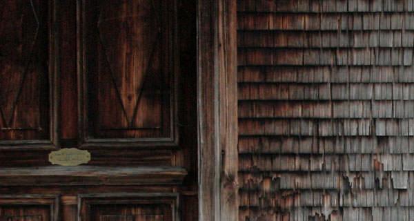 Holzfassade in der Schweiz